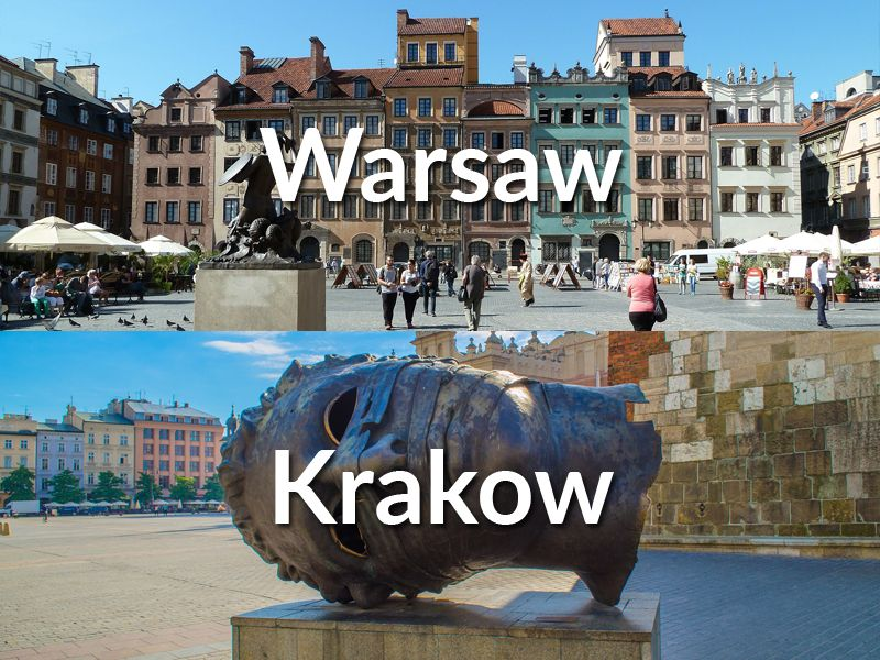 Train travel from Warsaw to Krakow