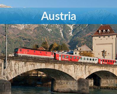 Bilety kolejowe do Wiednia i całej Austrii