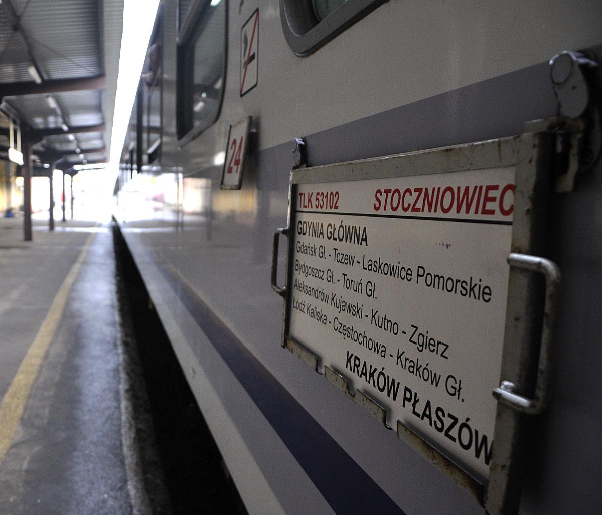 An InterCity train at the platform-Szymon Peplinski photo