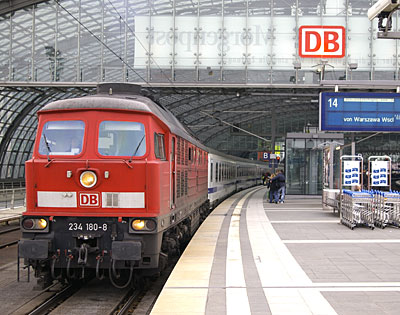 Berlin-Warszawa-Express train at Berlin
