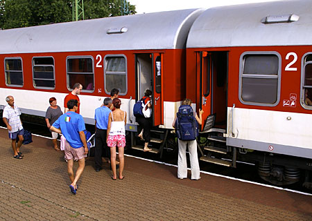 Group travel by train Poland Europe