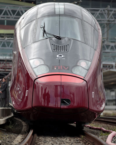Italo high-speed train in Italy