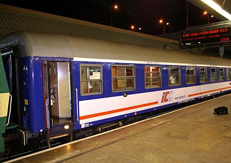 "Night train ""Silesia"" at Krakow"