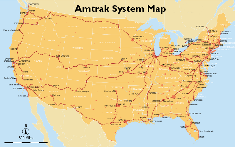 Train travel in the USA What is Amtrak Polrail Service – Train Travel In Usa Maps
