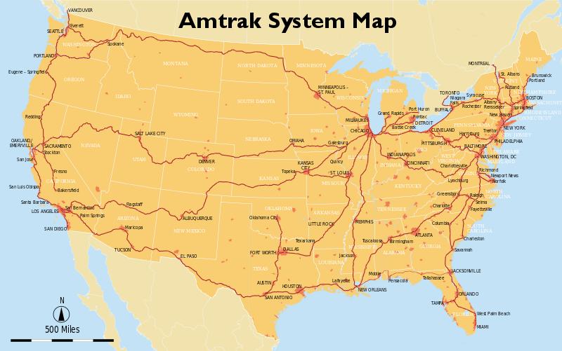 Amtrak System Map