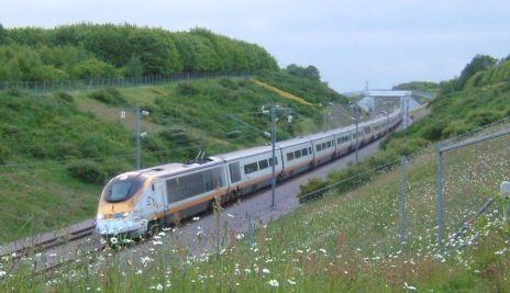 Eurostar train en route