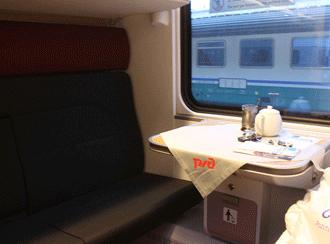 Inside RZD train