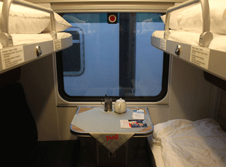 Inside sleeping car RZD