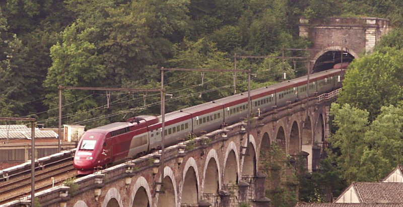 A Thalys train at speed