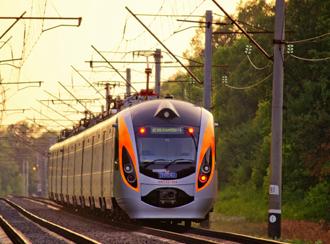 Pociąg Intercity+ na Ukrainie